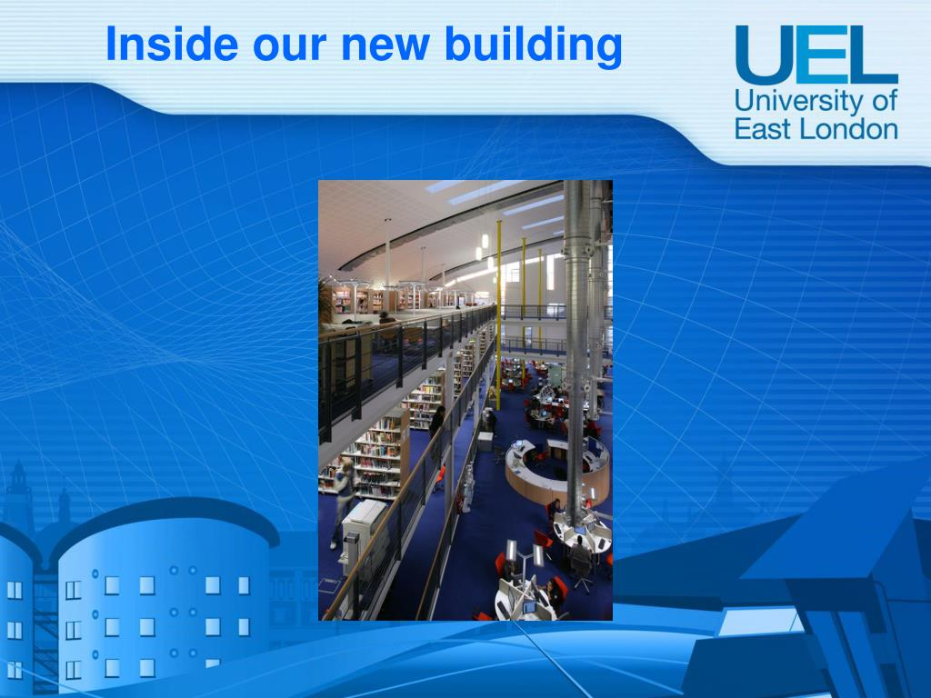 Inside our new building
