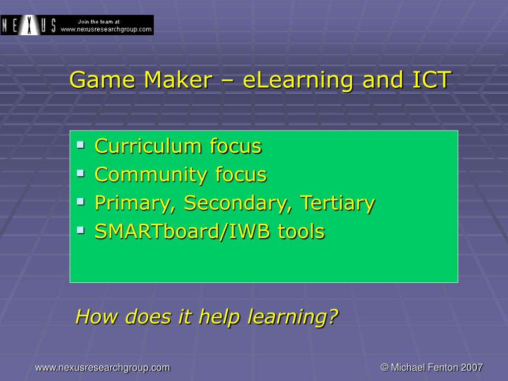 Game Maker – eLearning and ICT