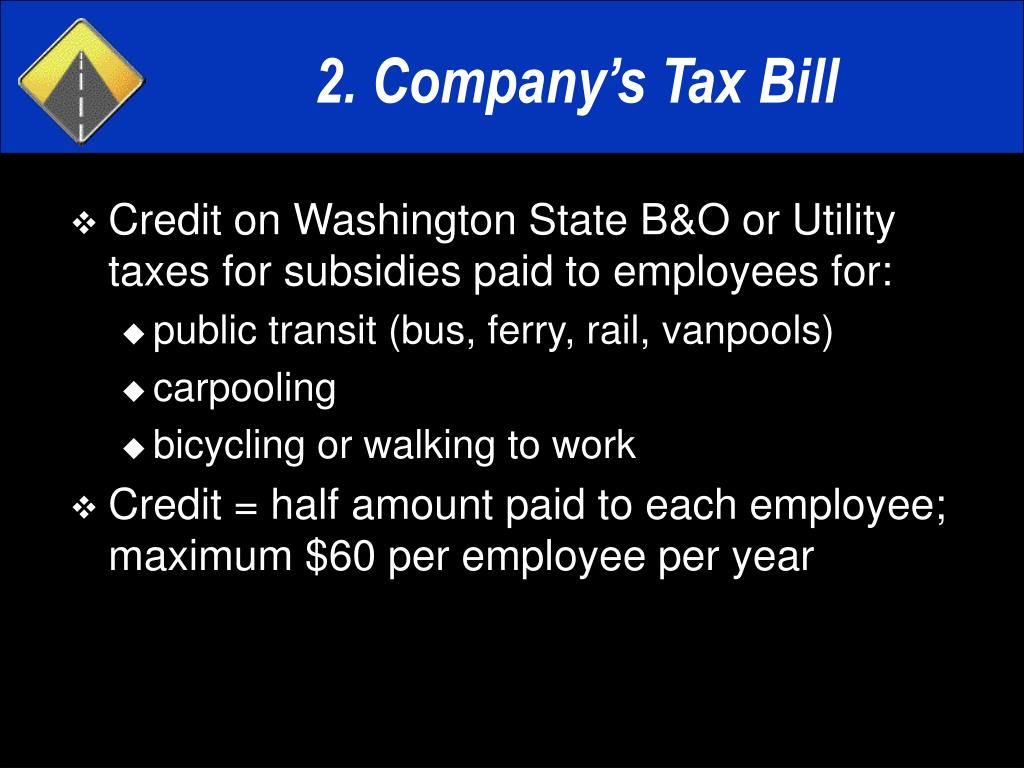 2. Company's Tax Bill