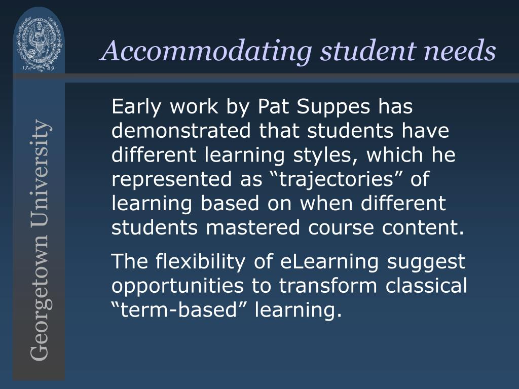 Accommodating student needs
