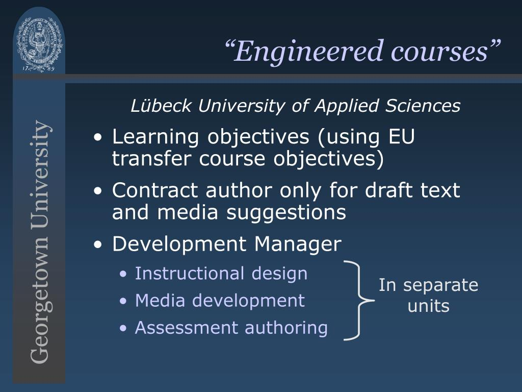 """Engineered courses"""