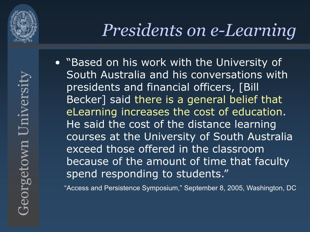 Presidents on e-Learning