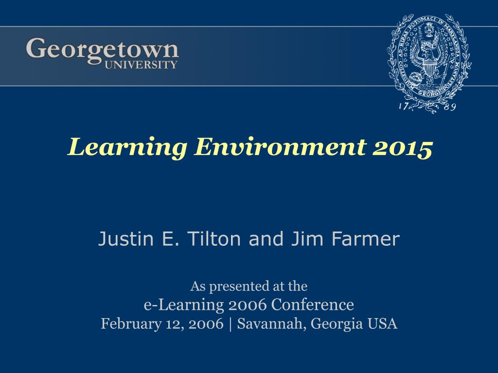 Learning Environment 2015