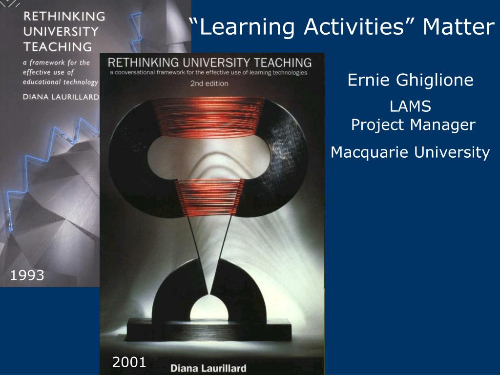"""Learning Activities"" Matter"