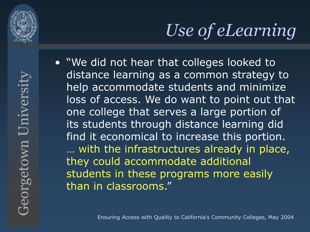 Use of eLearning