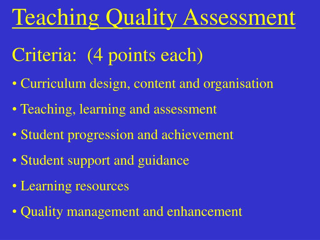 Teaching Quality Assessment