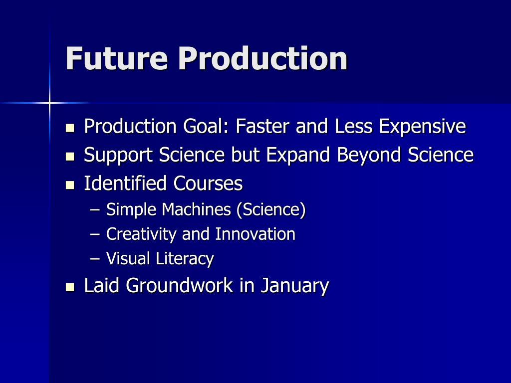 Future Production