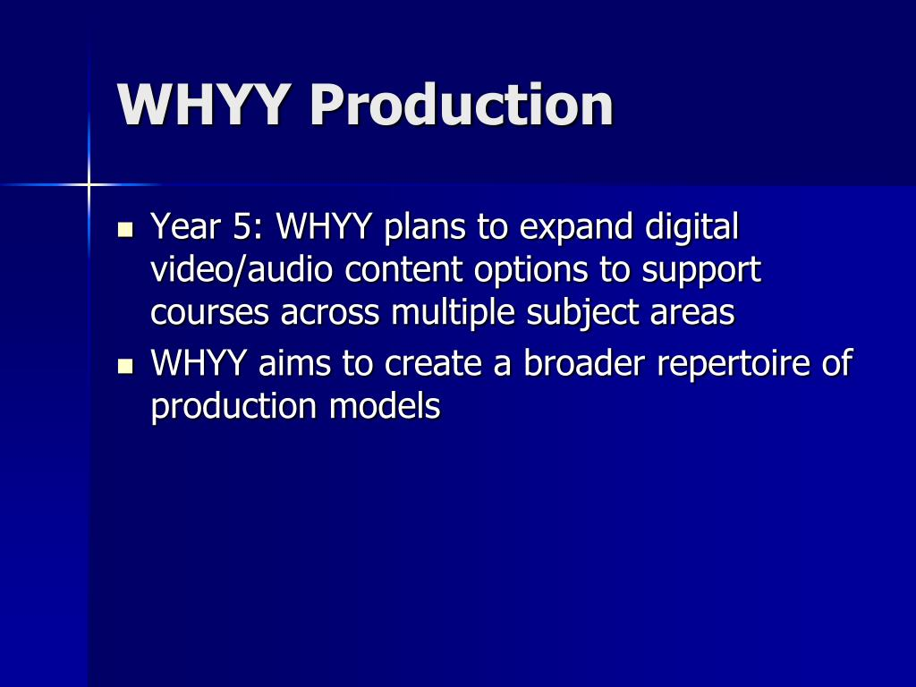 WHYY Production