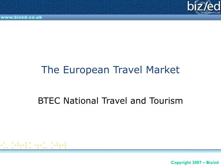 The european travel market l.jpg