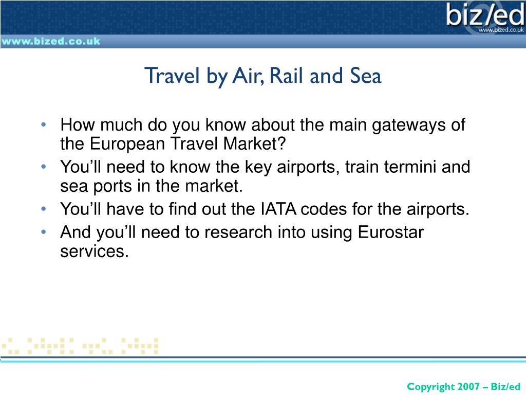 How much do you know about the main gateways of the European Travel Market?