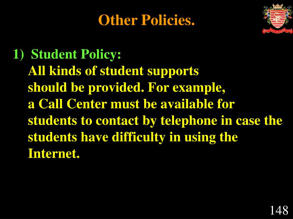 Other Policies.