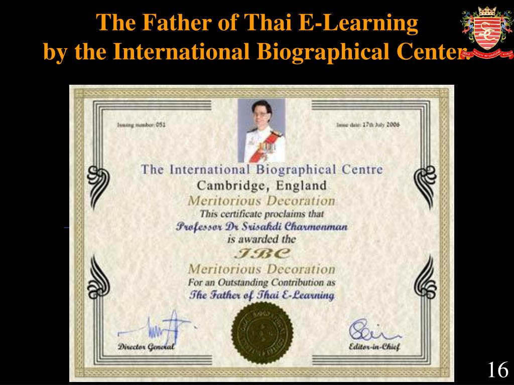 The Father of Thai E-Learning