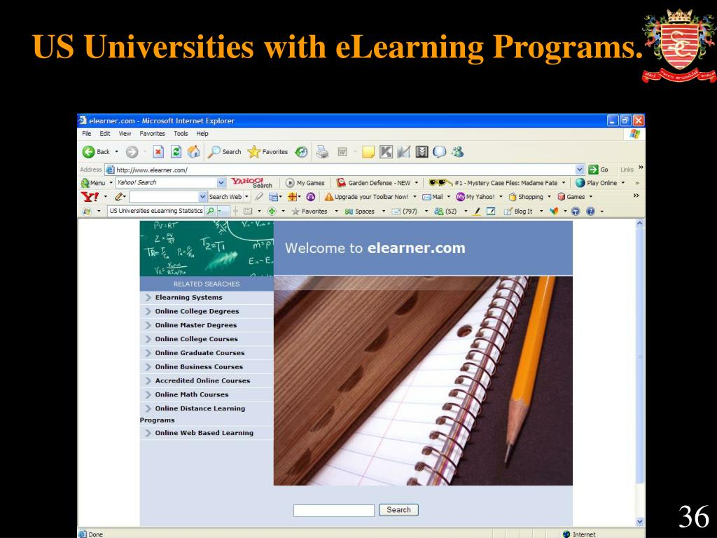 US Universities with eLearning Programs.