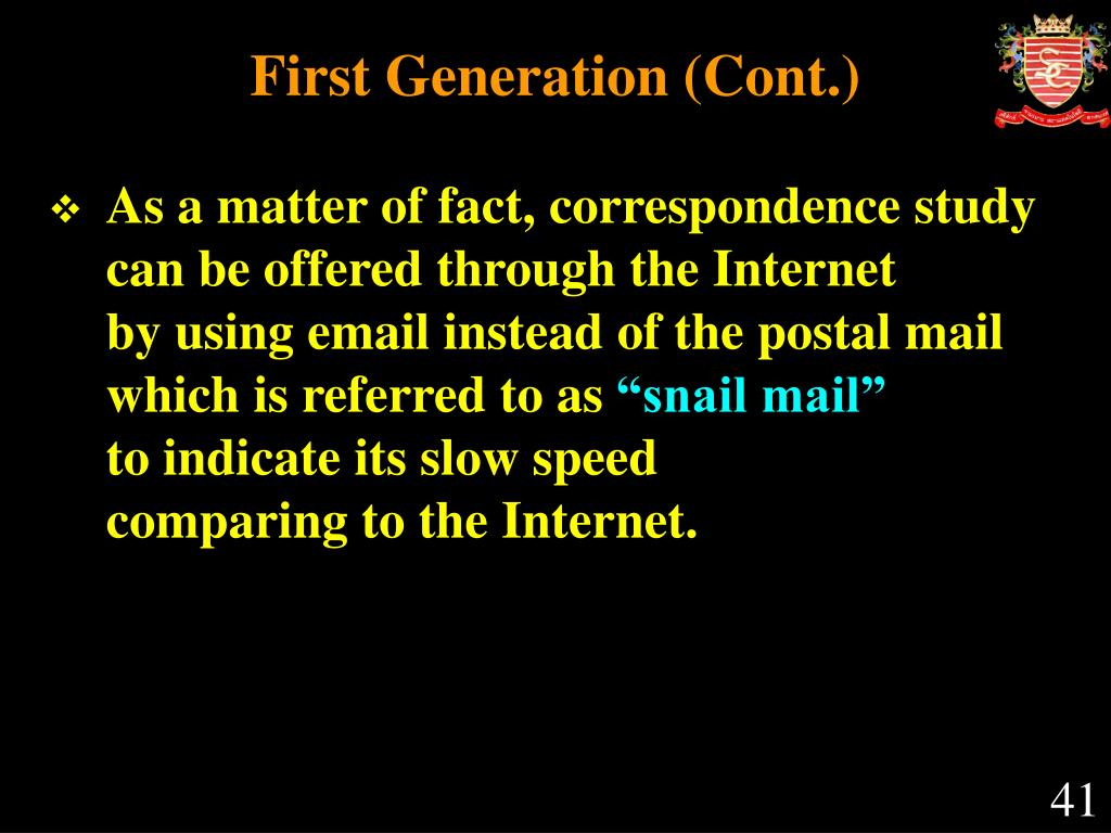 First Generation (Cont.)