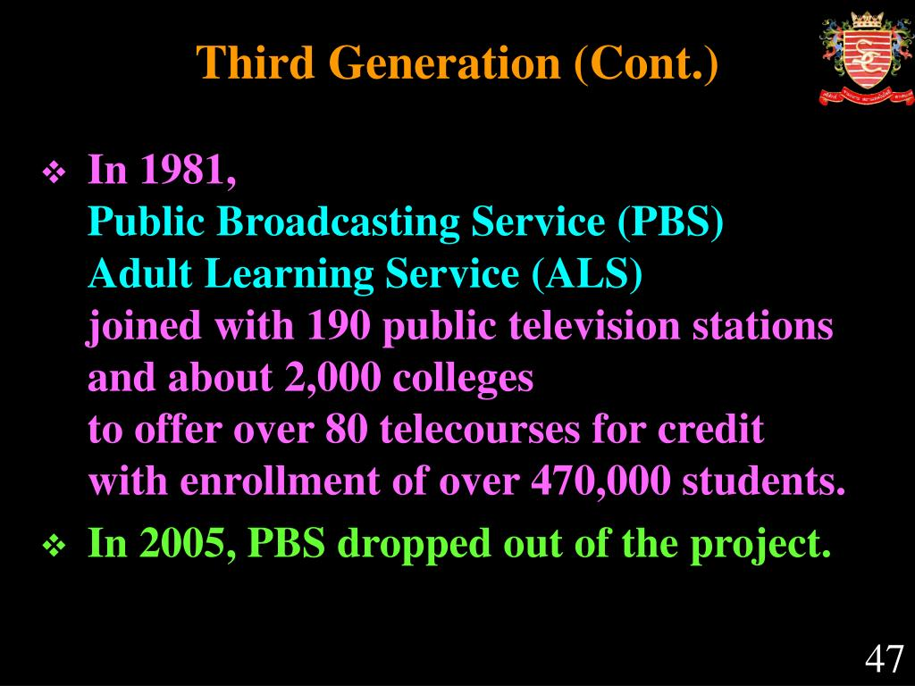 Third Generation (Cont.)