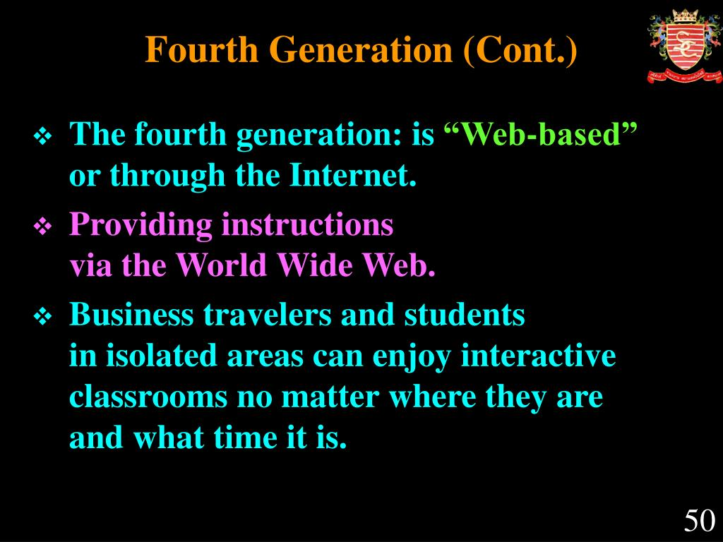Fourth Generation (Cont.)