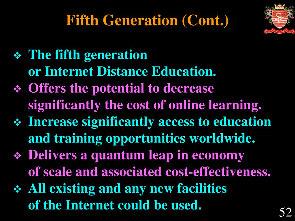 Fifth Generation (Cont.)