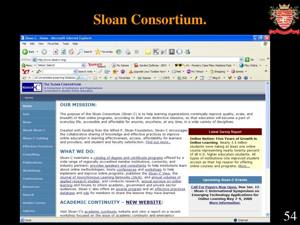 Sloan Consortium.
