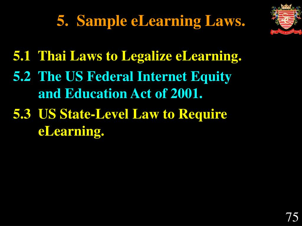 5.  Sample eLearning Laws.