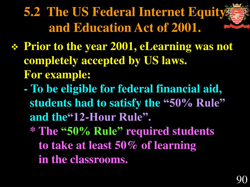 5.2  The US Federal Internet Equity