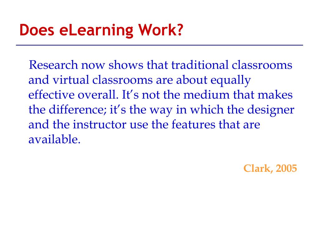 Does eLearning Work?