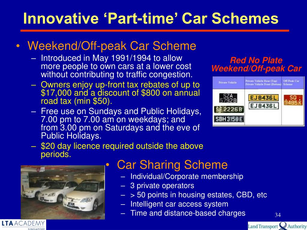 Weekend/Off-peak Car Scheme