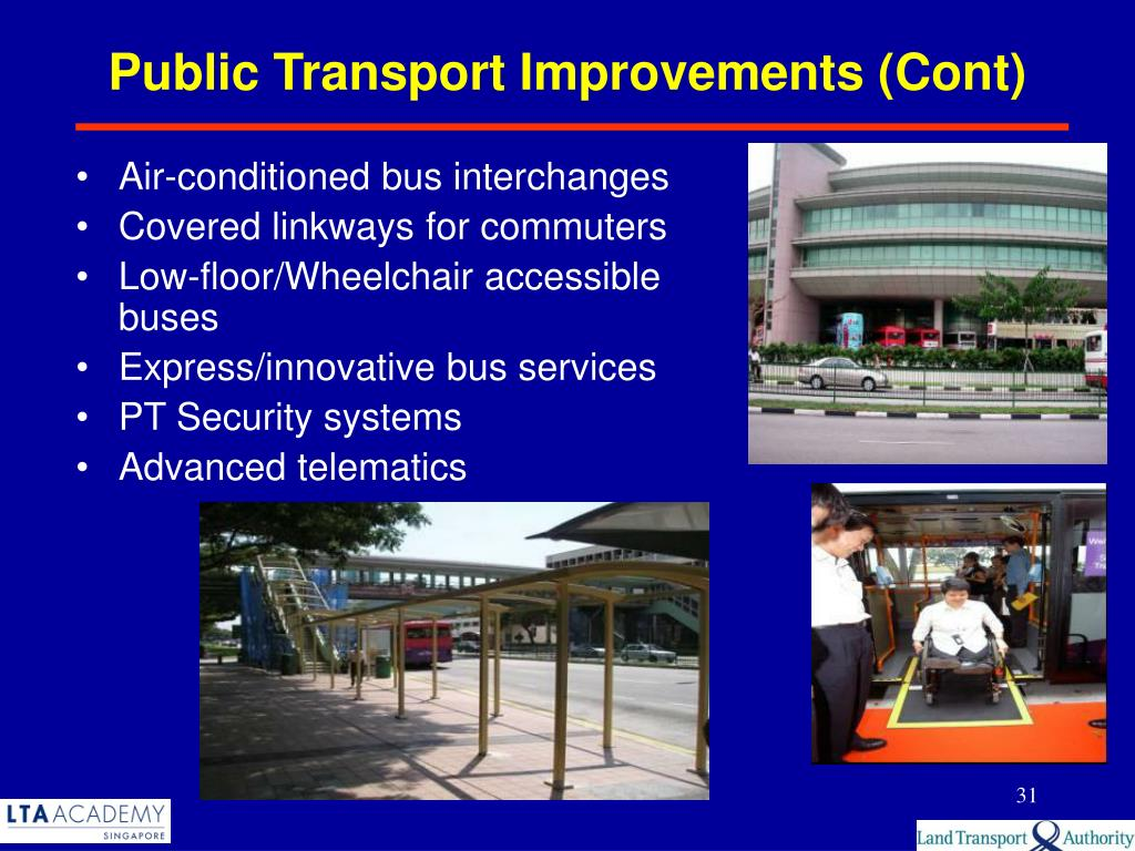 Public Transport Improvements (Cont)