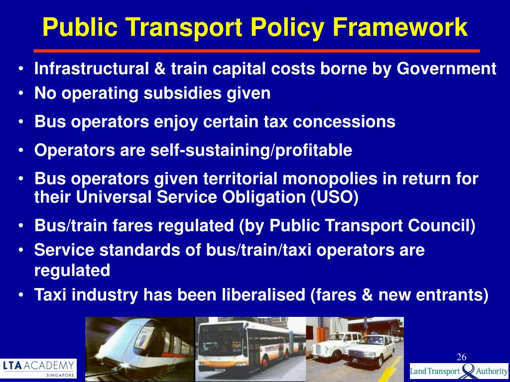 Public Transport Policy Framework