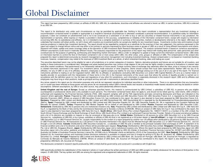 Global Disclaimer