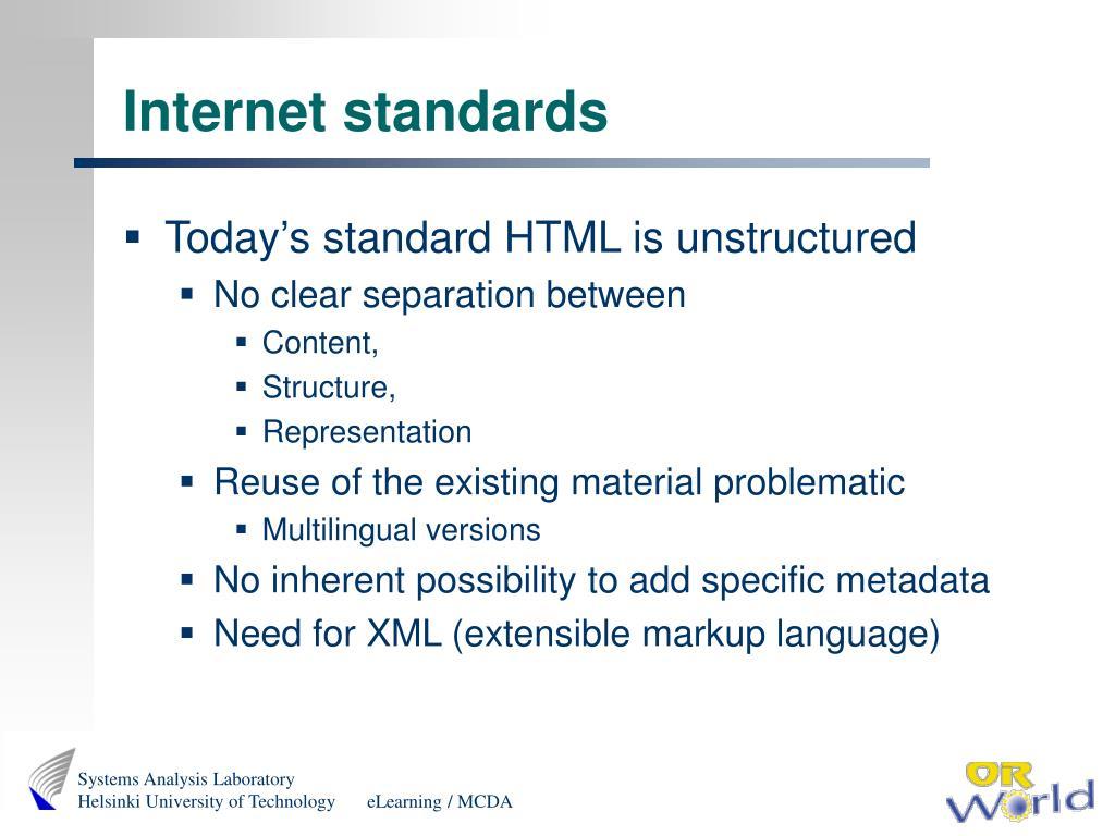 Internet standards