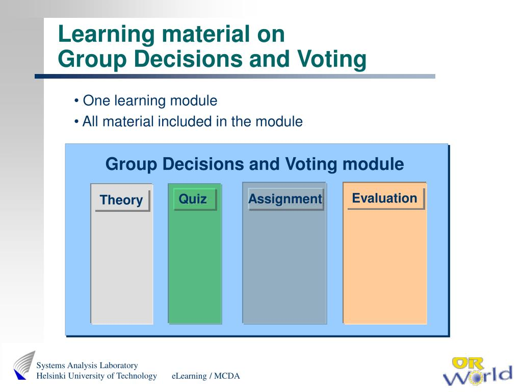 Group Decisions and Voting module
