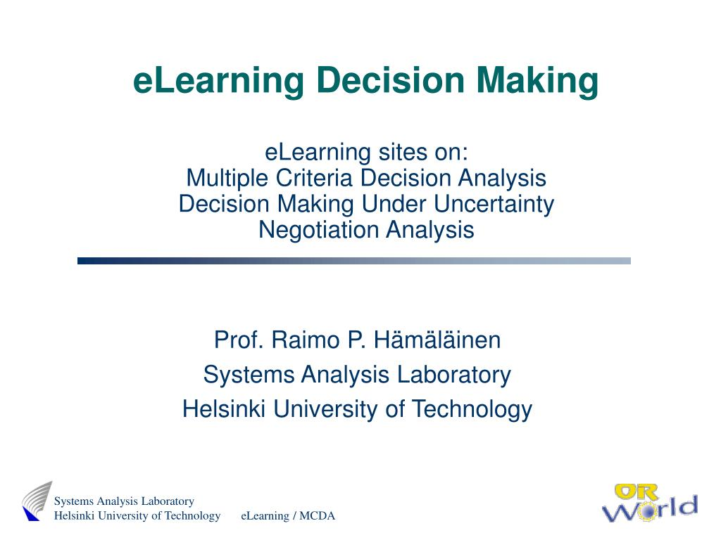 eLearning Decision Making