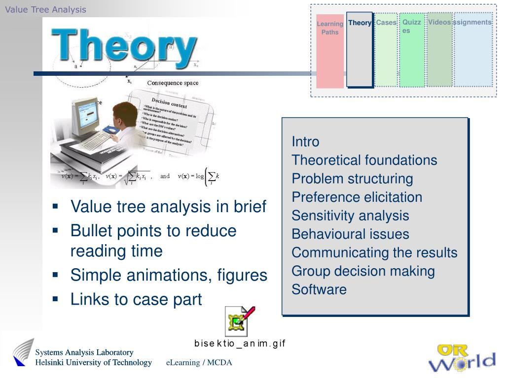 Value tree analysis in brief