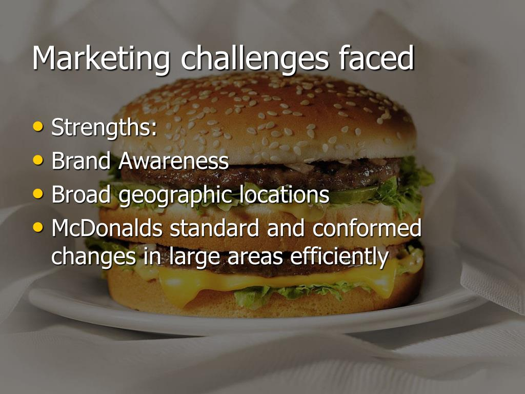 Marketing challenges faced