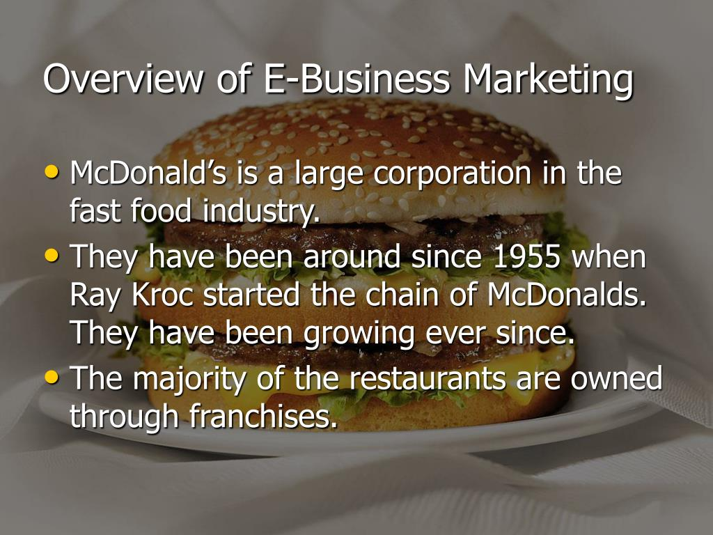 Overview of E-Business Marketing