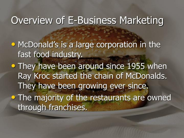 Overview of e business marketing