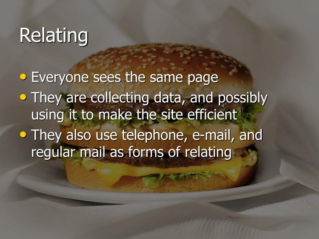Relating