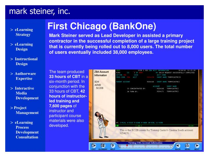 First Chicago (BankOne)