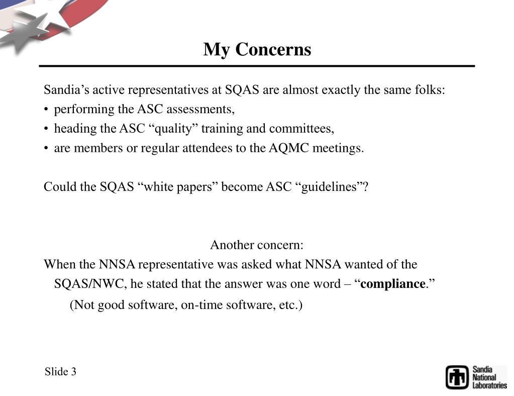 My Concerns