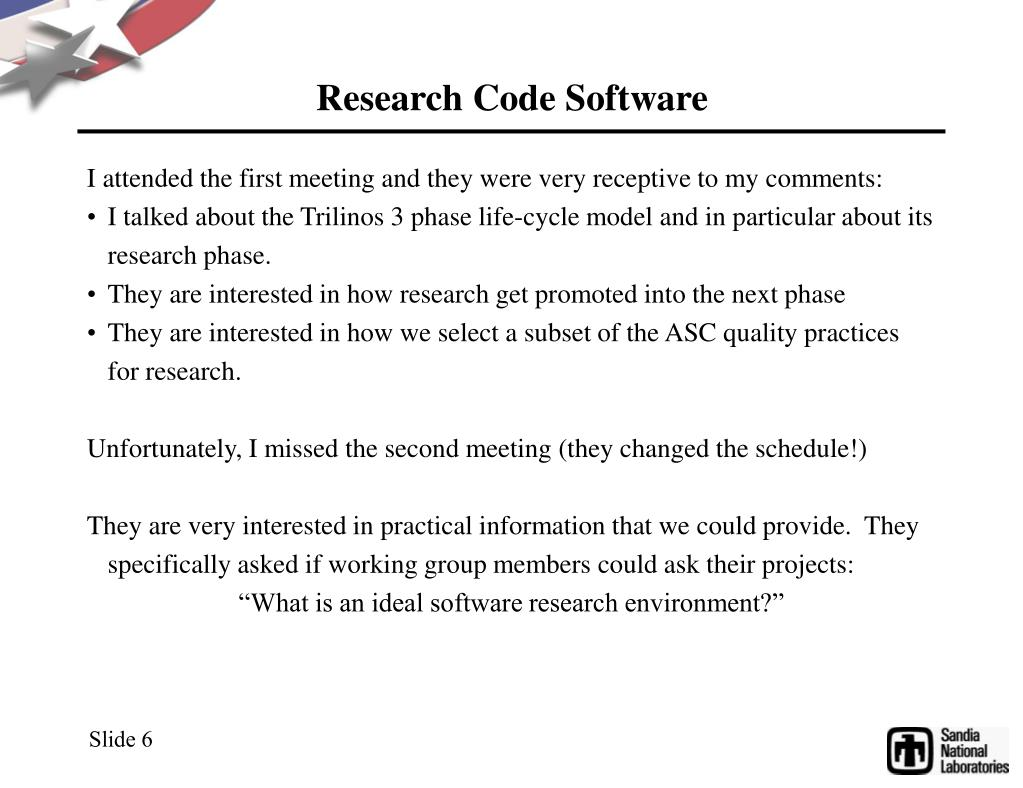 Research Code Software