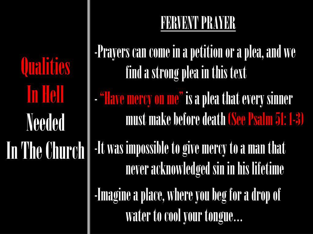 FERVENT PRAYER