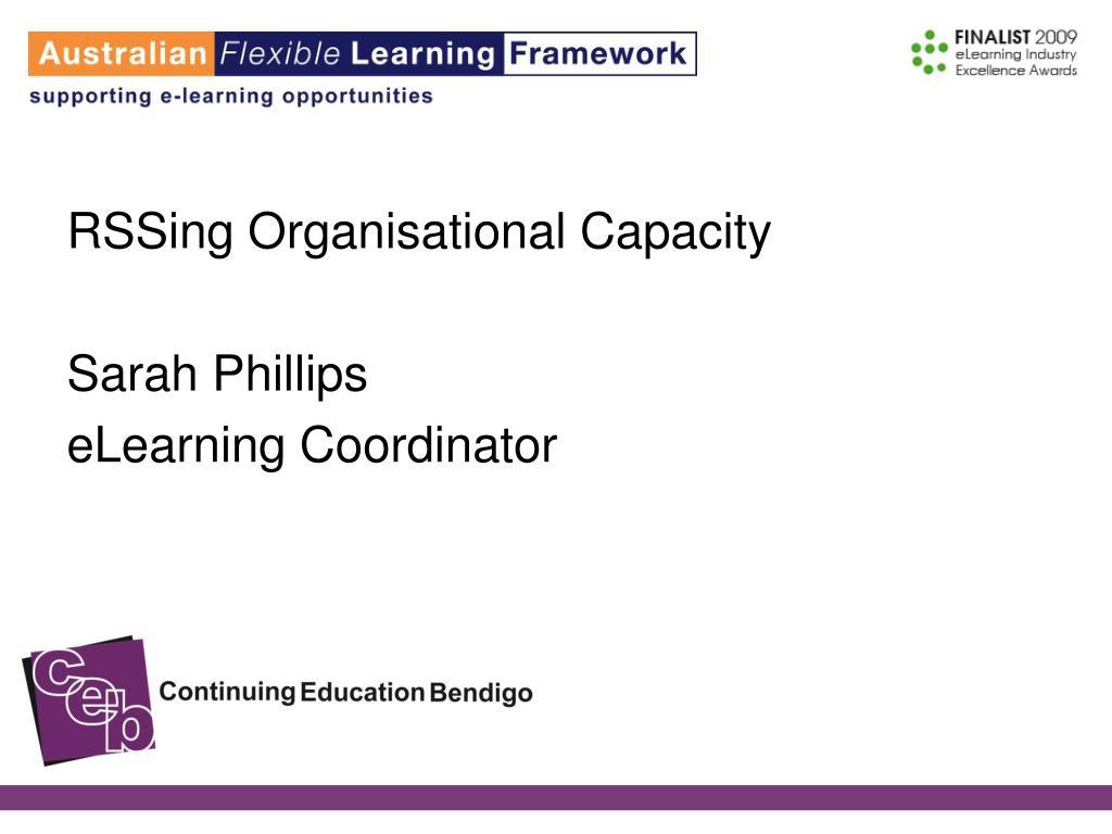 RSSing Organisational Capacity