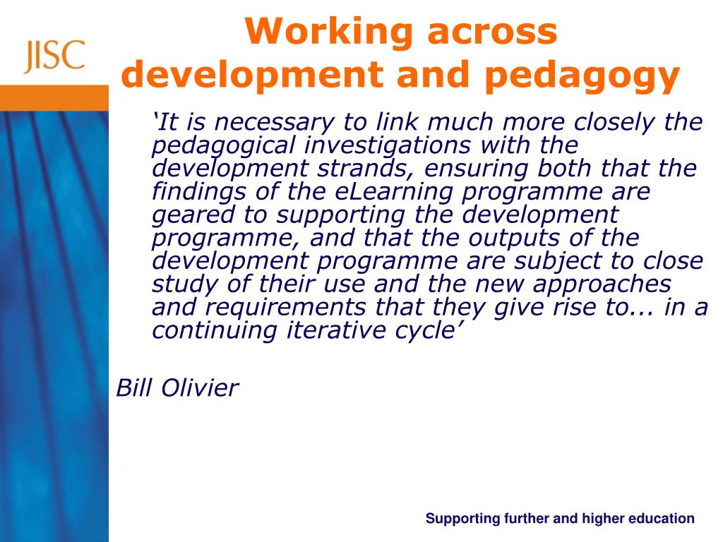 Working across development and pedagogy