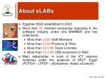 about elabs