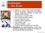 challenges the south5