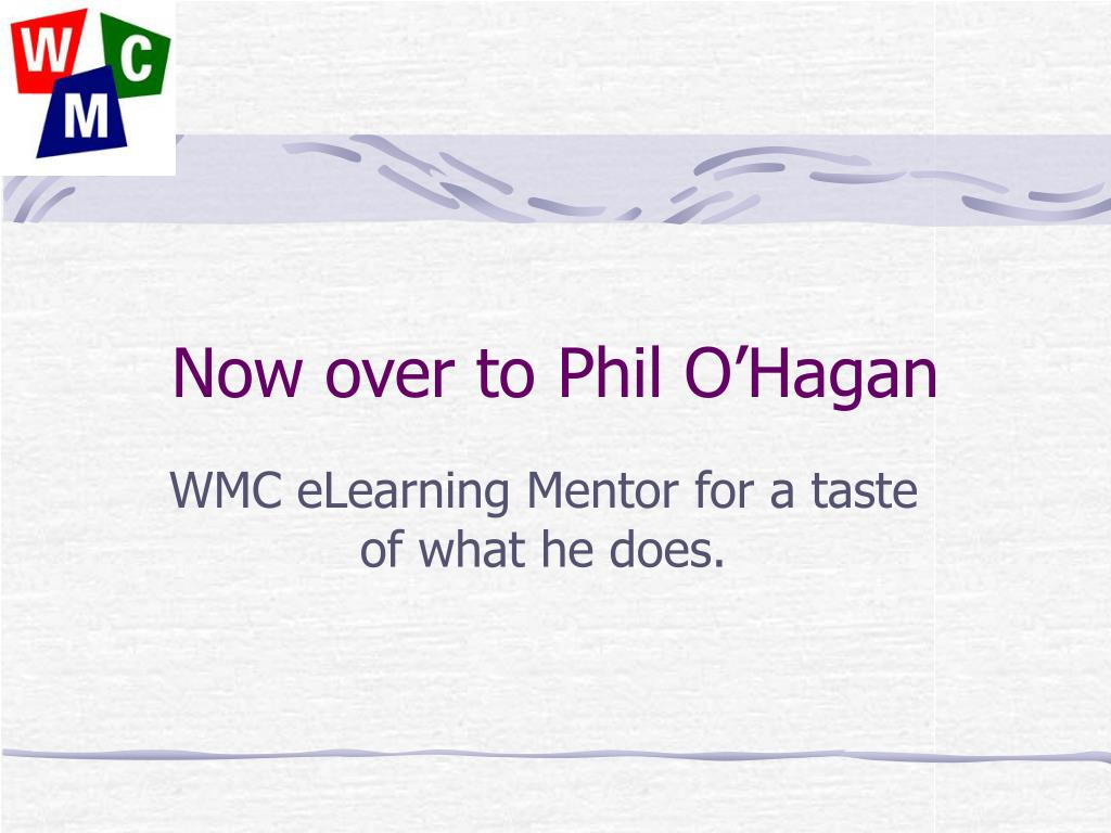 Now over to Phil O'Hagan