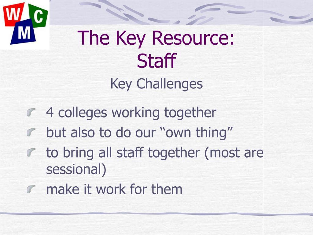 The Key Resource: