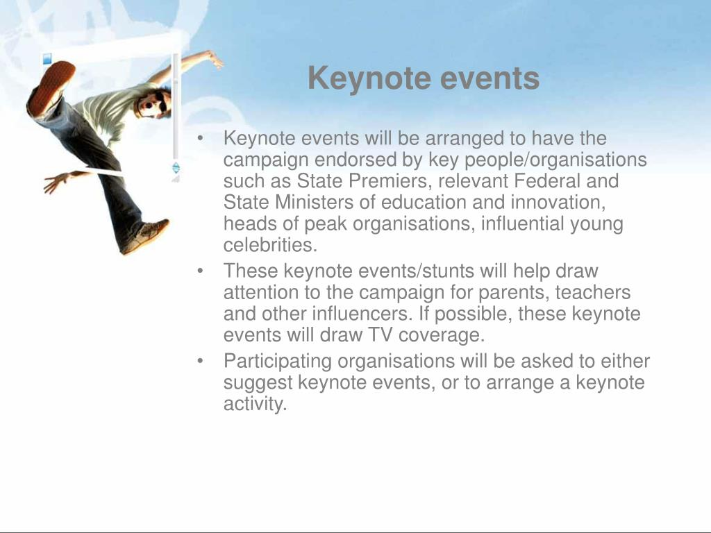 Keynote events