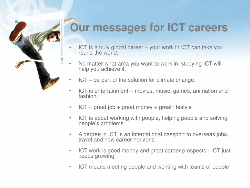 Our messages for ICT careers