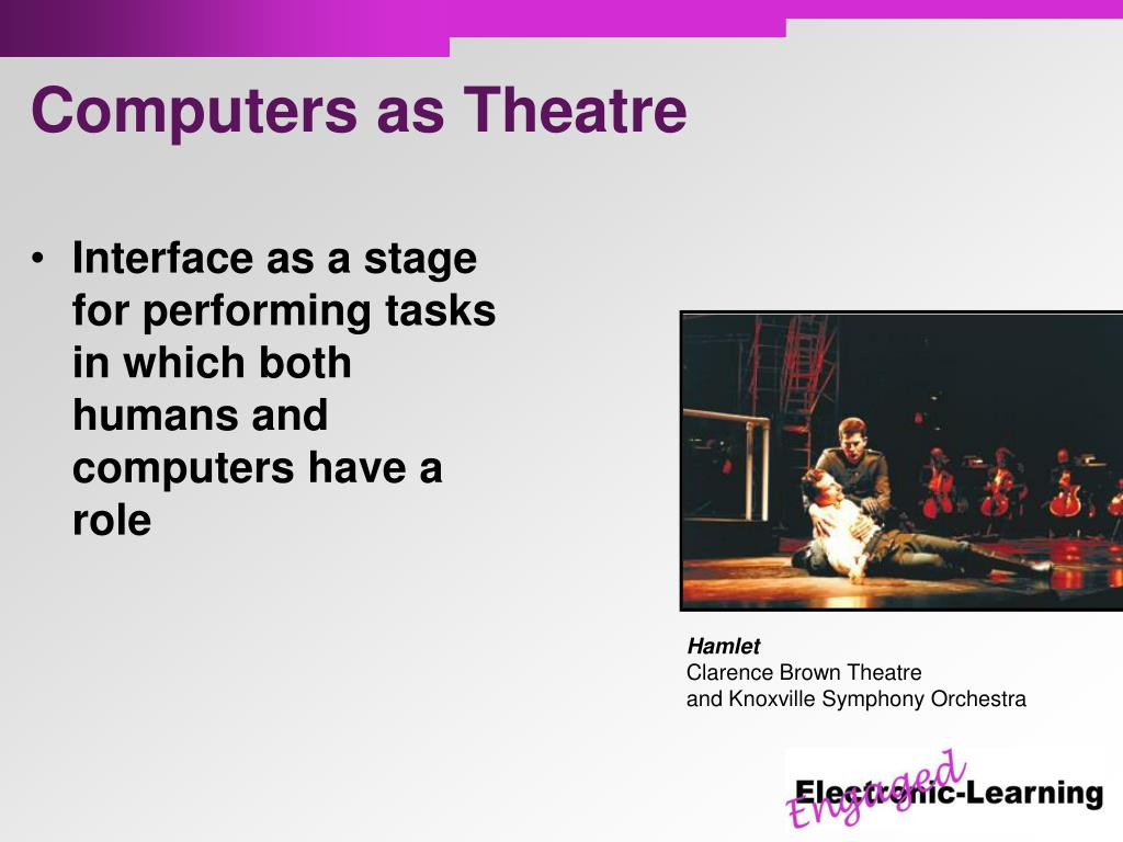 Interface as a stage for performing tasks in which both humans and computers have a role